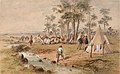 Burke and Wills, 03 Camp at Cooper's Creek, S T Gill.jpg