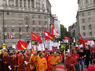 Burma Campaign UK - Protesters march in London organised by the Burma Campaign UK in 2007
