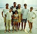 Bush family at beach in Summer 1968 (2819) (cropped).jpg