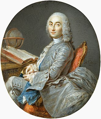 César-François Cassini de Thury - César-François Cassini de Thury, miniature watercolor on ivory by Jean-Marc Nattier