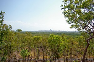 Charles Darwin National Park - Looking at Darwin from a park lookout