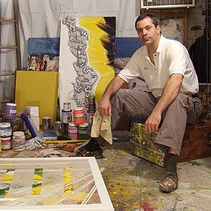 Charles Gibbons (artist) - Charles Gibbons in Studio