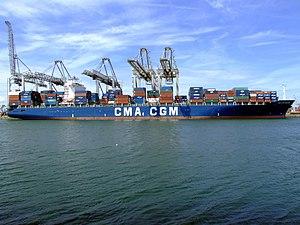 CMA CGM Balzac pic5, at the Amazone harbour, Port of Rotterdam, Holland 14-Jul-2007.jpg