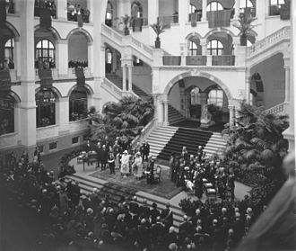 Tropenmuseum - The opening of the Colonial Institute by Queen Wilhelmina, 1926.
