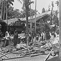 COLLECTIE TROPENMUSEUM Vrouwelijke gasten uit omliggende dorpen trekken langs geslachte karbouwen en varkens tijdens een dodenfeest van de Toraja in Sadang TMnr 10028487.jpg