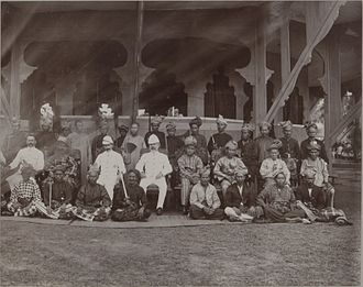 Undang - Negeri Sembilan chieftains seated (middle row) with Tuanku Muhammad Shah (second from left), 1903.