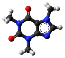 3D structure of caffeine