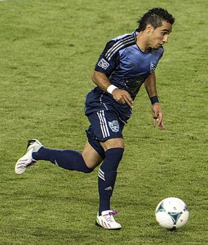Camilo Sanvezzo - Sanvezzo playing in the 2013 MLS All-Star game