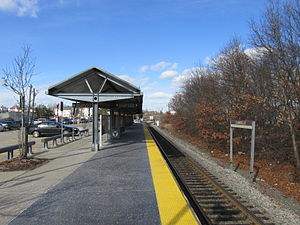 Campello (MBTA station) - Campello station in February 2013