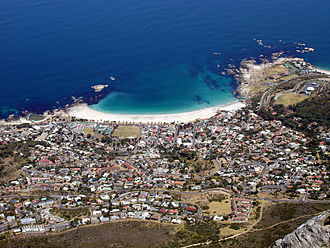 Camps Bay - Camps Bay as seen from Table Mountain
