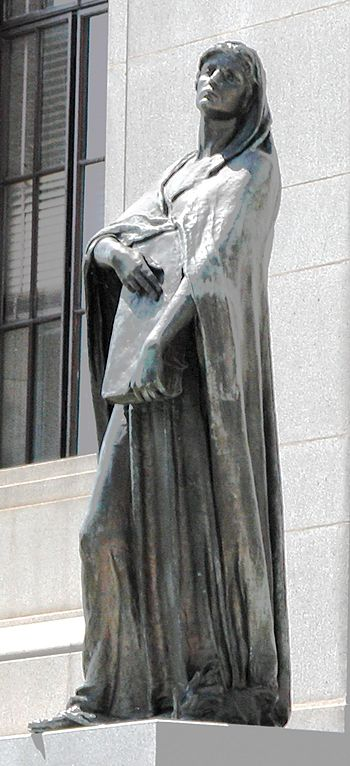 English: Statue of Truth outside the Supreme C...