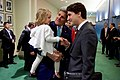 Canadian Prime Minister Trudeau Plays With Secretary Kerry's Granddaughter Before Both Officials Signed the COP21 Climate Change Agreement on Earth Day in New York (26514346291).jpg
