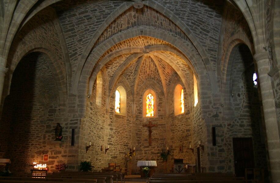 Canet (Hérault) - chœur de l'église Assomption de Notre-Dame (XVIIe siècle).