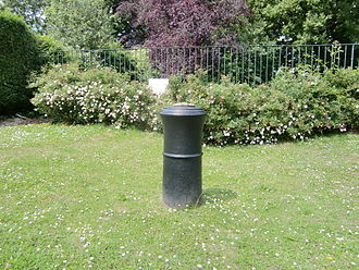 William Roy - Cannon in Roy Grove, Hampton marking the Hampton end of the first baseline of the triangulation of Great Britain
