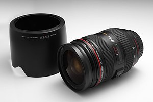 Canon EF 24–70mm lens - Canon EF 24–70mm f/2.8L lens with hood (EW-83F)