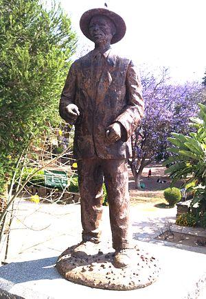 Hendrik Samuel Witbooi - Monument of Captain Hendrik Samuel Witbooi at Parliament Gardens in Windhoek