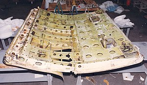 United Airlines Flight 811 - The cargo door recovered by manned deep sea submersible ''Sea Cliff''.