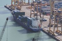 Cargo ship Susan Borchard at Port of Barcelona container terminal - 6 Oct. 2011.jpg