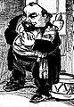 Caricature d'Albert Bedouce, en octobre 1906 alors qu'il quitte le poste de maire de Toulouse (par J.Metteix).jpg
