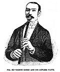 Carlo Tommaso Giorgi y su flauta Giorgi