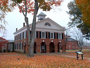 National Register of Historic Places listings in Caroline County, Virginia - Image: Caroline County Courthouse Virginia Oct 12