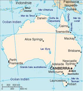Carte Australie Ville En Anglais.Geographie De L Australie Wikipedia