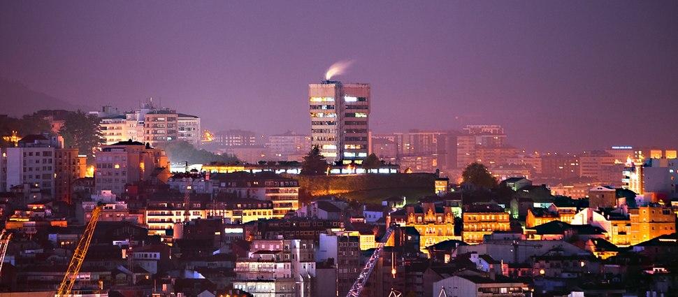 Centro da cidade de Vigo.