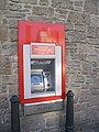Cash machine outside Peebles Post Office - geograph.org.uk - 595795.jpg