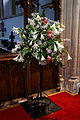 Castle Hedingham, St Nicholas' Church, Essex England, floral display.jpg