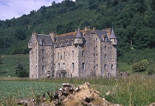 Castle Menzies castle in Perth and Kinross, Scotland, UK