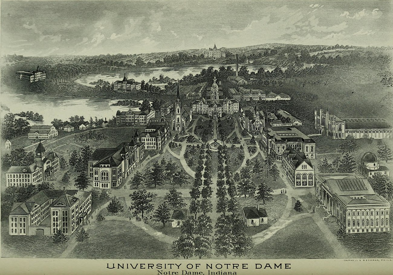 Badin Hall in 1903, before the 1917 addition of the lateral wings