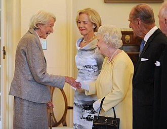 Catherine Hamlin - Hamlin meets The Queen at Government House, Canberra in 2011