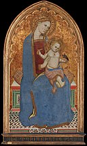Cecco di Pietro - Virgin and Child playing with a Goldfinch and holding a Sheaf of Millet - Google Art Project.jpg