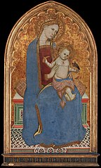 Virgin and Child playing with a Goldfinch and holding a Sheaf of Millet