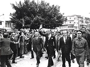 William Hawi - Celebrating the anniversary of the Kataeb in 1971 with Pierre Gemayel