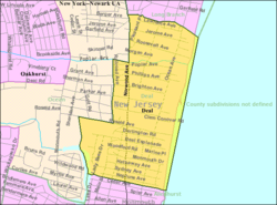 Census Bureau map of Deal, New Jersey