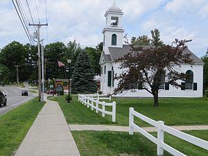 Newbury, New Hampshire - Image: Center Mtghouse Newbury NH