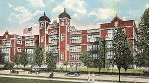 Central Visual and Performing Arts High School - Central High School occupied the Yeatman High School building, shown above, from 1927 to 2004