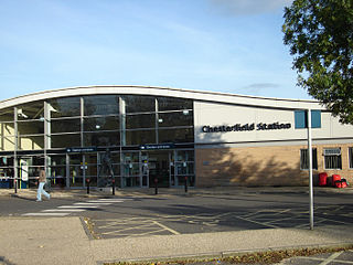 Chesterfield railway station Railway station in Derbyshire, England
