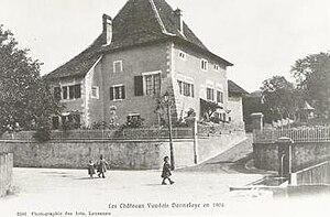 Donneloye Castle - The château of Donneloye in 1904