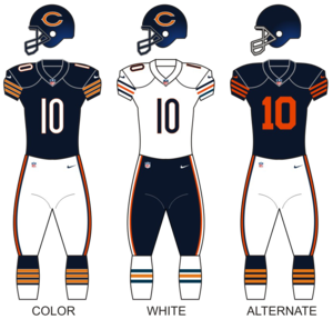 2016 Chicago Bears season - Image: Ch bears uniforms