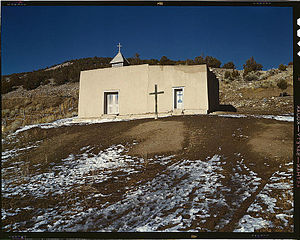 Vadito, New Mexico - Vadito Chapel, 1943, photo by John Collier for the Farm Security Administration.