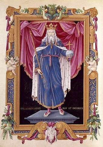 Later depiction of Charlemagne in the Bibliotheque Nationale de France Charles Ier le Grand ou Charlemagne.jpg