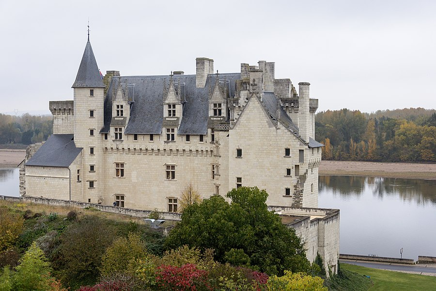 The Château de Montsoreau on the bank of the Loire river, Maine-et-Loire, France.