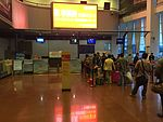 Check-in counters at Taizhou Luqiao Airport.JPG
