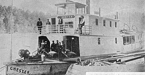 Chester (sternwheeler) - Chester circa 1905 with additional cabin structure added.