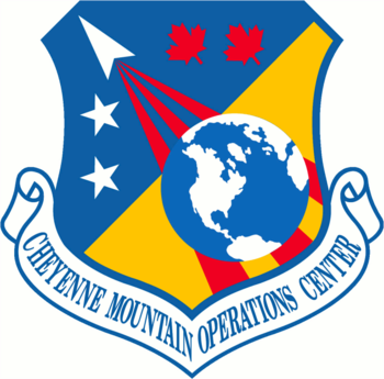Emblem of Cheyenne Mountain Operations Center.