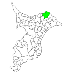 Location of Sawara in Chiba Prefecture
