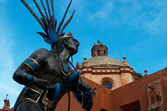 Chichimeca War - A statue of a Chichimeca warrior in the city of Querétaro
