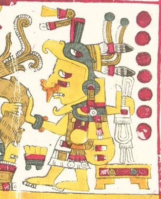 Chicomecōātl - Chicomecōātl, as depicted in the Codex Borgia